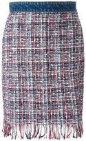 MSGM tweed pencil skirt - women - Cotton/Polyamide/Polyester/Virgin Wool - 42