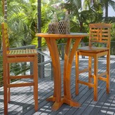 Beachcrest Home Mallie Solid Wood Bar Table