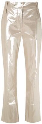 Gloria Coelho Metallic Cropped Trousers