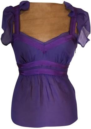 Valentino Red Purple Silk Top for Women