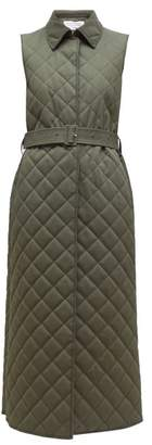 Gabriela Hearst Rodenko Quilted Cotton Sleeveless Jacket - Womens - Khaki