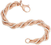 Honora Cultured Pearl 2.5mm Rope Twisted Bronze Bracelet
