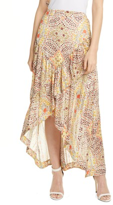 BA&SH Floral Ruffle Skirt