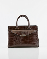 Le Château Croco Embossed Faux Leather Tote