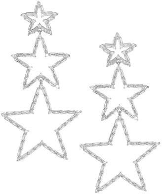 Fallon Triple Star Drop Earrings