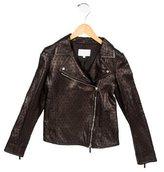 Gucci Girls' Leather Moto Jacket