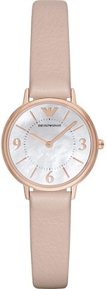 Emporio Armani Women's AR2512 Dress Blush Leather Quartz Watch