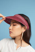 Anthropologie Shimmered Straw Visor