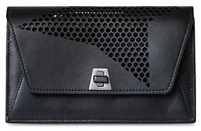 Akris Anouk Envelope Mesh & Leather Crossbody Bag