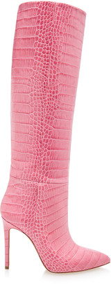 Paris Texas Croc-Embossed Leather Boots