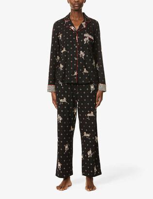 DKNY Star-patterned stretch-jersey pyjama set