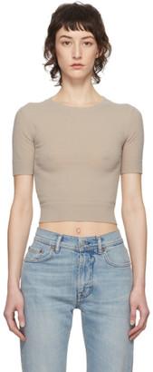 Acne Studios Beige Light Short Sleeve Sweater
