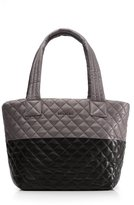M Z Wallace Metro Tote Black and Magnet Colorblock Leather