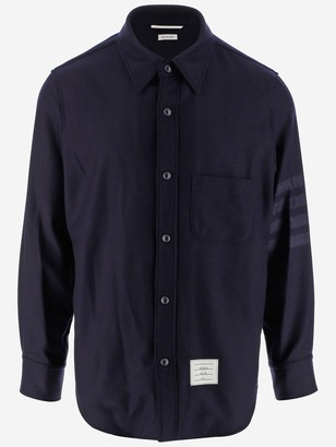 Thom Browne Logo Patch Shirt Jacket