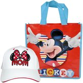 Disney Mom Hat Minnie Mouse Bow Baseball Cap & Mickey Tote/Gift Bag