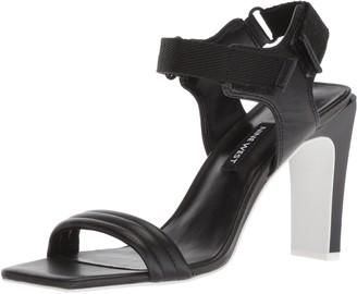 Nine West Women's ZEBREE Leather Heeled Sandal
