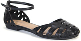 Bamboo Black Closed-Toe Lynda Sandal