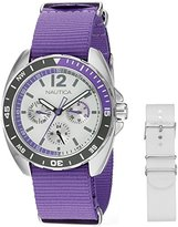 Nautica Women's NAD11525M Ladies Sport Ring Gift Set Analog Display Quartz Purple Watch