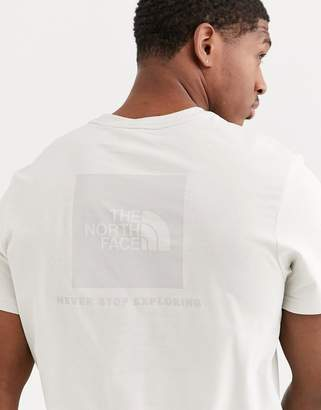 The North Face Red Box t-shirt in moonlight ivory-White