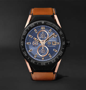 Tag Heuer Kingsman X + Connected Modular 45mm Ceramic And Leather Smart Watch, Ref. No. Sbf8a8023.32eb0103