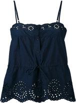Mes Demoiselles perforated trim cami top - women - Cotton - 38