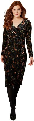 Joe Browns Marvellous Wrap Dress - Black/Multi