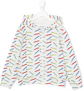Au Jour Le Jour Kids - pencil print hoodie - kids - Cotton - 2 yrs