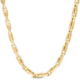 Zales Men's Elongated Link Chain Necklace in 14K Gold - 22""