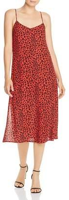 Charlie Holiday Feline Leopard-Print Midi Dress