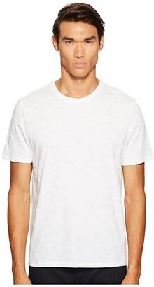 Vince Short Sleeve Slub Crew Neck (Black) Men's T Shirt