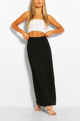 boohoo Gathered Waist Floor Sweeping Maxi Skirt
