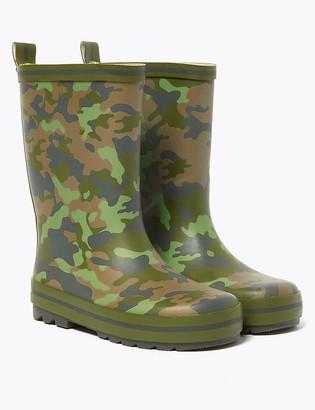 Marks and Spencer Kids' Camouflage Wellies (5 Small - 12 Small)