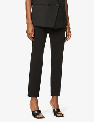 Theory Skinny high-rise stretch-cotton trousers