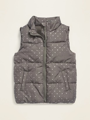 Old Navy Frost-Free Printed Puffer Vest for Toddler Girls