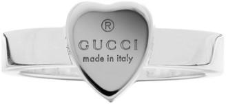 Gucci Silver Trademark Heart Ring