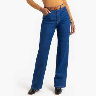 """La Redoute Collections High-Waist Wide-Leg Jeans, Length 32"""""""