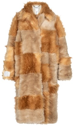Stella McCartney Adrienne patchwork faux fur coat