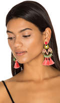 Elizabeth Cole Tassel Earrings in Pink.