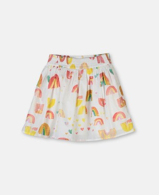 Stella McCartney Paint Rainbow Cotton Skirt, Women's