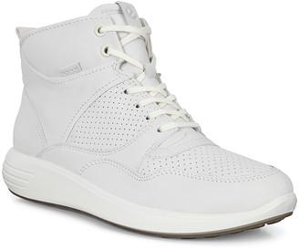 Ecco Women's Sneakers Runner - White Droid Soft 7 Hi-Top Sneaker - Women
