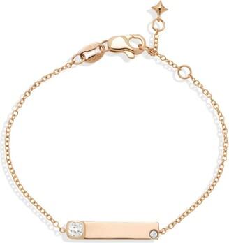 Noa Mini Rose Gold And Diamond Name Bracelet