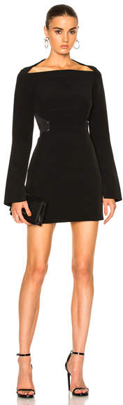 Dion Lee Mesh Stripe Mini Dress