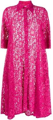 Ultràchic Floral Lace Shirt Dress