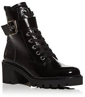 Paul Green Women's Dynamite Block Heel Combat Boots