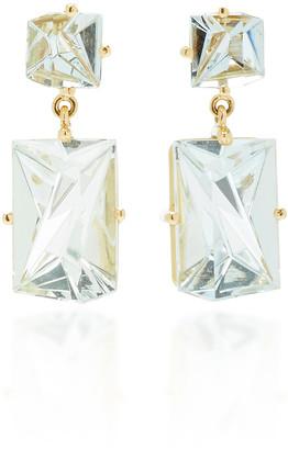 MISUI 18K Gold Aquamarine Earrings