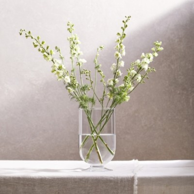 The White Company Fulbrook Glass Hurricane Vase, Clear, One Size