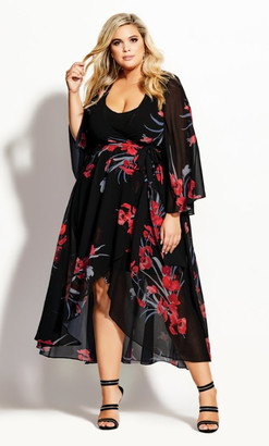 City Chic Iris Love Maxi Dress - black