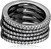 Noir Audley Stackable Ring, Size 6