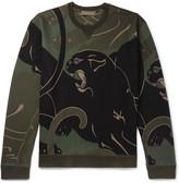 Valentino - Printed Loopback Cotton-blend Jersey Sweatshirt