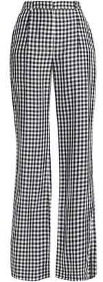 Sonia Rykiel Gingham Twill Wide-leg Pants